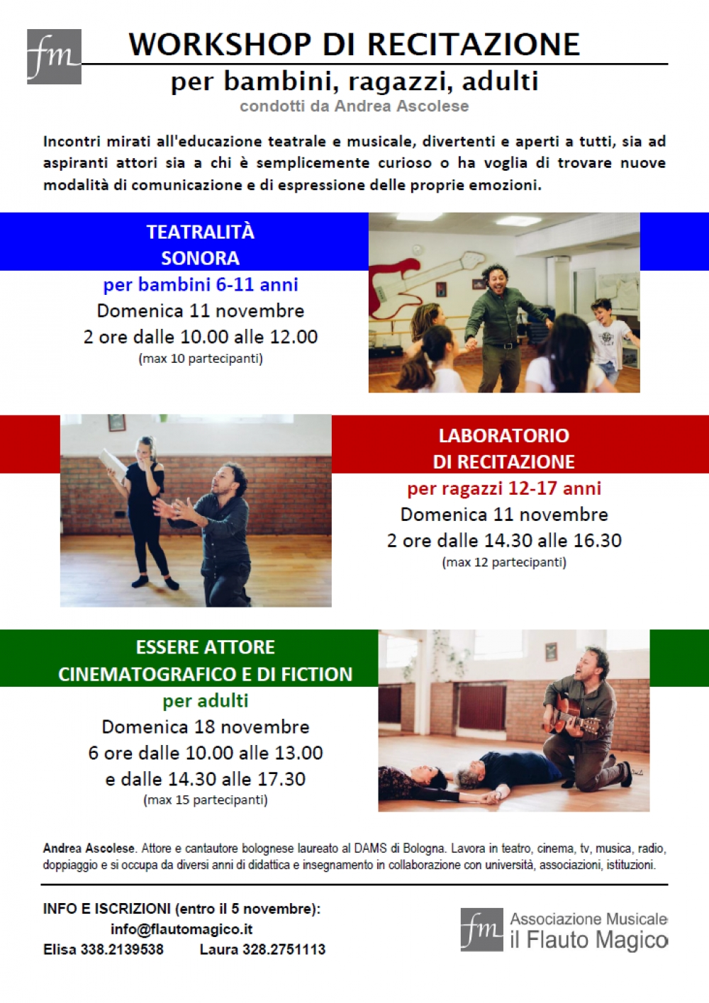 workshop recitazione